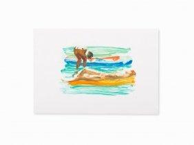 Eric Fischl, Beach Raft, Monotype, 1986