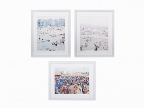 Massimo Vitali, 3 Offset Lithographs, 2002-2006