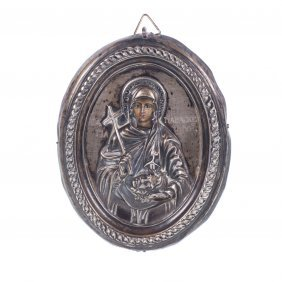 Greek Icon Of Saint Paraskeva.