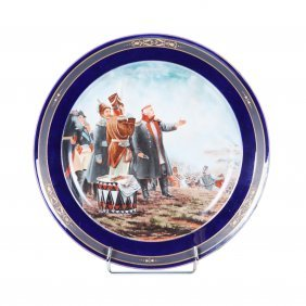 "Decorative Porcelain Plate ""on Borodino Fields""."