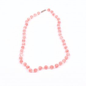 Rose Coral Necklace.
