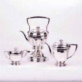 Silver Teaset Of 3 Pieces. Tiffany & Co.