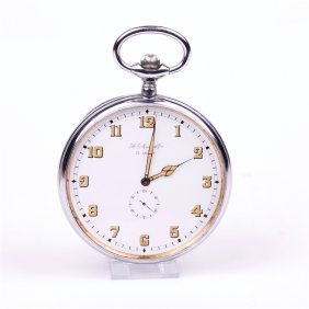 Rare Eight Days Very Large Pocket Watch Henry Moser.