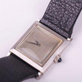 """boucheron"" Ladies White 18k Gold Wristwatch With"