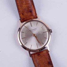 """movado"" Gold 18k Wristwatch."