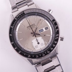 """seiko"" Automatic Chronograph Mens Wristwatch."