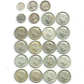Collection Of 23 American Coins.