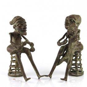 Pair Of African Bronze Sculptures.