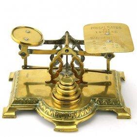 English Brass Postal Letter Scales, Circa 1880.