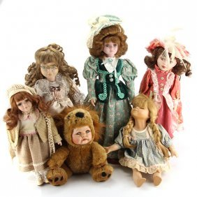 Collection Of 6 Porcelain Dolls