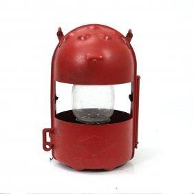 Nicoln Warning Lantern, Made In Belgium.