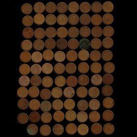 Lot Of 76 British Mandate In Palestine 1 Mil Coins