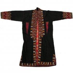Uzbek Robe, Hand Woven Silk, Circa 1940.