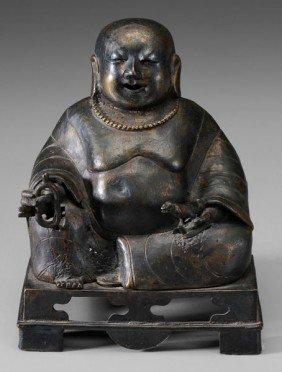 Bronze Figure Of Budai Or Kubera