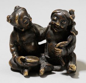 Small Bronze Figural Group