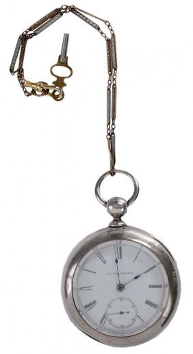 1874 Illinois Coin Silver Pocket Watch