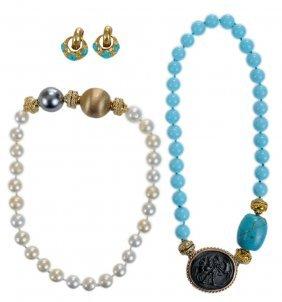 Two Clara Williams Necklaces,