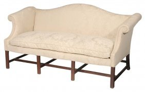 Chippendale Mahogany Upholstered Camel