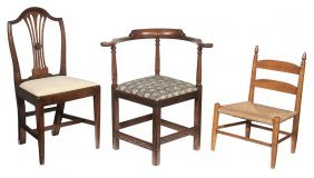 Group Of Three Period Chairs