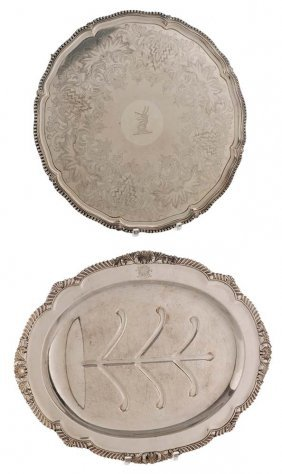 Two Old Sheffield Plate Trays