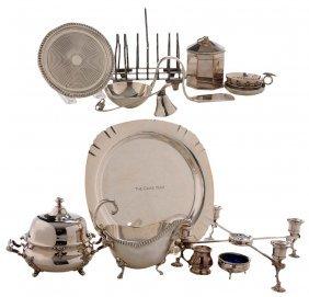 Thirteen Pieces Silver-plate