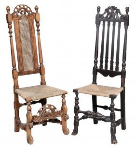Two William And Mary Side Chairs