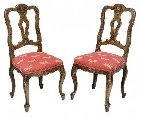 Pair Venetian Baroque Style Paint-