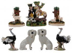 Seven Ceramic Figures For Table And