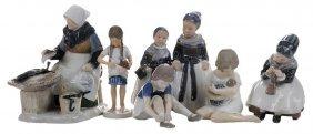 Six Danish Porcelain Figures Of Girls