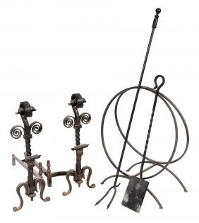 Group Of Wrought Iron Fireplace