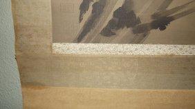 Miyamoto Musashi.shrike(antique Woodblock Print)