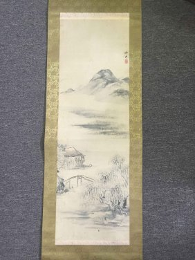 A Hanging Scroll Color Ink On Paper,