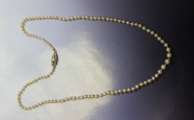 Gia  certified Natural Pearl Necklace
