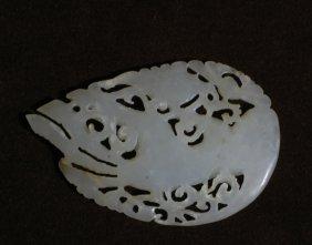 A Jade Carving Phoenix Pendant
