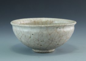 A Moon White Glazed Guan-type Small Bowl