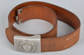 Nazi German Labor Camp Belt And Buckle