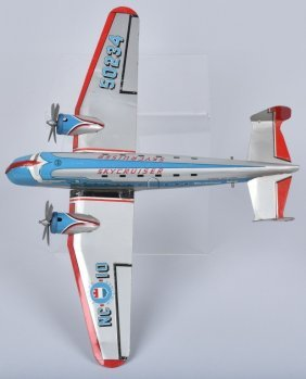Marx Tin Friction Stratoliner 700 Airplane