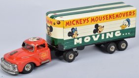 Linemar Tin Friction Mickey Mouse Movers