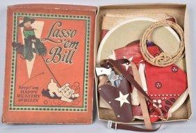 Lasso Em Bill Cowboy Outfit & Cap Gun W/box