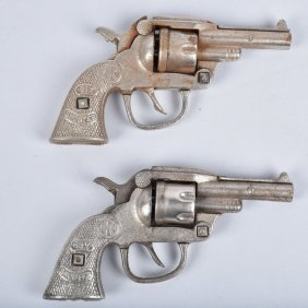 2- Cast Iron Six Shooter Cap Guns