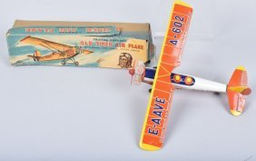 Japan Tin Friction Old Timer Airplane W/ Box