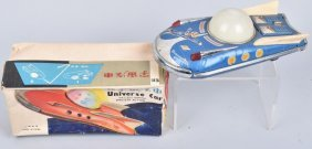 Red China Battery Op Universe Space Car W/ Box