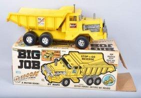 Marx Battery Op Big Job Dump Truck W/ Box