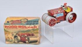 Japan Battery Op Road Roller W/ Box