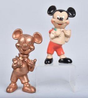 Mickey Mouse Vinyl Toy W/ Original Molds