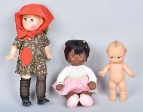 Lot Of 3 Dolls,ideal, Horstman & More