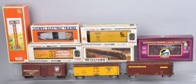 Lot Of O Gauge Train Cars & More