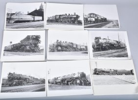 Lot Of 50 Train And Locomotive Photos.