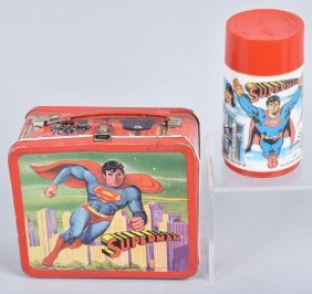 Superman Lunch Box With Thermos