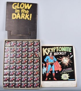 1977 Superman Kryptonite 48 Rock Store Display Nos